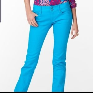Lilly Pulitzer worth straight Jean cyan blue jeans